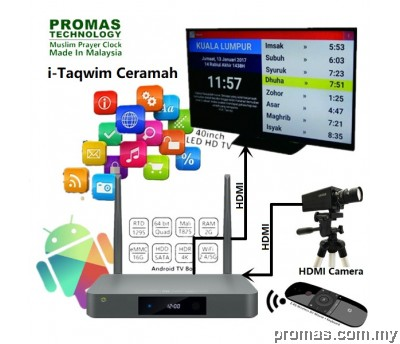 I-TAQWIM CERAMAH + TV 40inch + HDMI CAMERA + AIR MOUSE