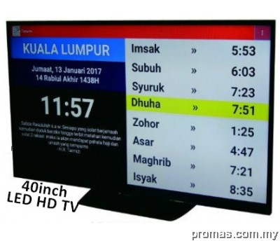 I-TAQWIM CERAMAH + TV 40INCH