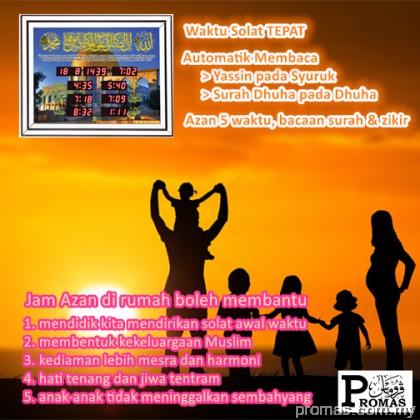 Jam Azan Rumah Promas - Simple Background CK